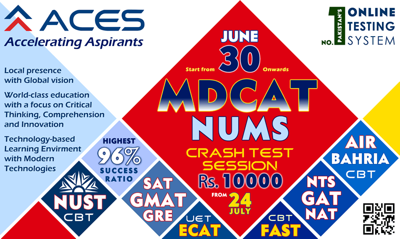 Entry test preparation plans for MDCAT & NUMS